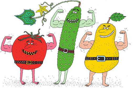 Tomato, Cucumber, Pear, Food, Nutrition, Vegetables