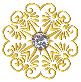 Gold, Flower, Petal, Petals, Golden, Yellow, Metal