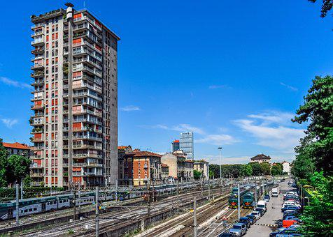 Railway Station, Trains, Building