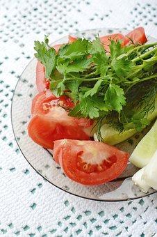 Salad, Vegetables, Healthy Food, Diet