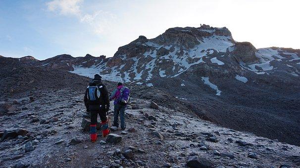 Ecuador, Carihuairazo, Andes, Couple, Rock, Ice
