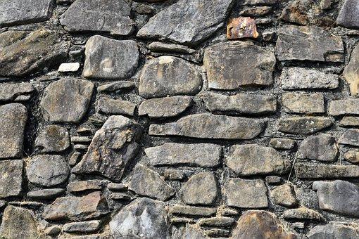 Stone Wall, Rock, Background, Backdrop, Grunge, Old