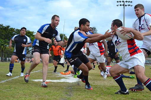Rugby, Tackle, Competition, Athlete, Pitch, Playing