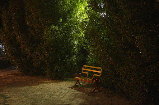 Empty, Chair, Alone, Green, Red