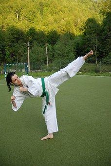 Karate, Kick, Girl, Martial Arts, Female, Belt, Woman