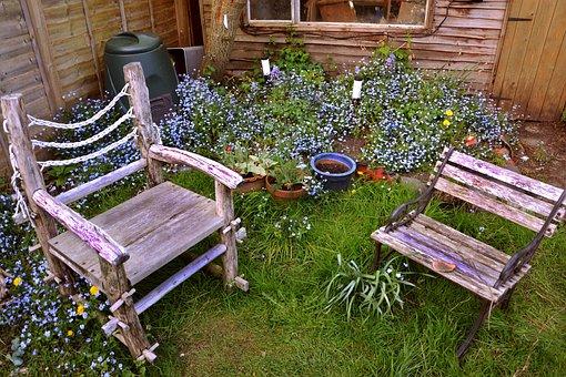 Chairs, Garden, Seat, Furniture, Outdoor, Green, Grass