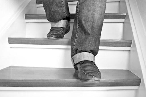 Stairs, Feet, Shoes, Go Stairs Down, Foot, Legs, Go