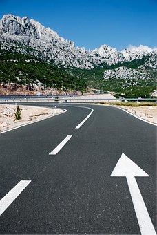 Way, Highway, Asphalt, Landscape, Mountaineering