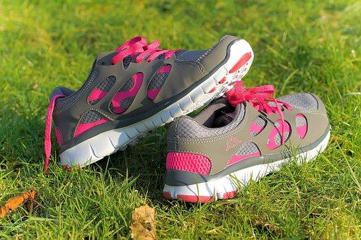Shoes, Sports Shoes, Red, Jog, Beautiful, Shoelaces