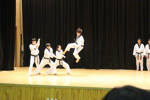 Taekwondo, Kick, Jump, Korea, Sport, Martial Arts