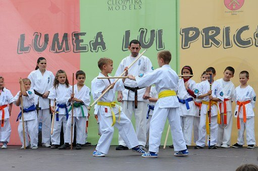 Karate, Martial Arts, Kids, Stage, Fight, Exercise