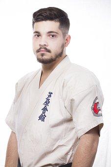 Boy, Karate, Studio, Fighter, Man, Lights, Black Belt