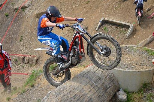 Trial, Sport, Trial Bike, Motorcycle, Motorsport