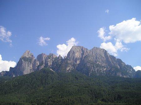 Schlern, Santner, Santner Peak, Dolomites, Mountains