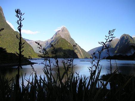 New Zealand, Fiordland, South Island, Miter, Peak
