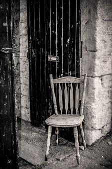 Chair, Wooden, Black, Wood, Pine, Craft, Brown, Seat