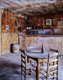 Judge Roy Bean, Saloon, Texas, Inside, Interior, Wood