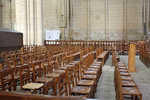 Church Chairs, Wooden Chairs, Rows Of Chairs, Seating