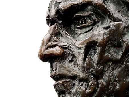 Statue, Bronze, Cabot, Bristol, Newfoundland