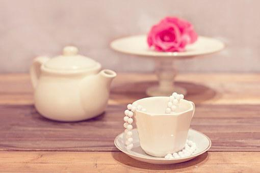 Tea Party, Tea, Cup, Vintage, Shabby Chic, Teapot