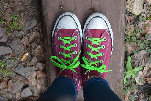 Teenager, Young People, Chuck's, Converse, Shoelace