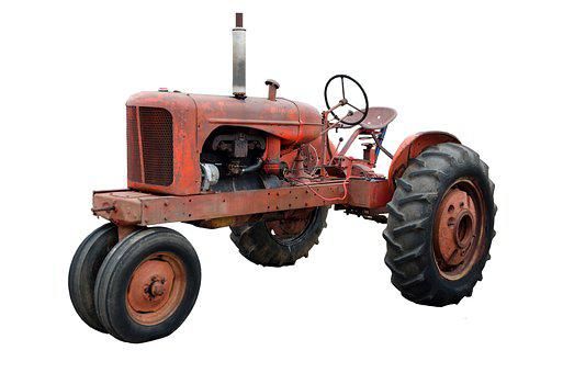 Old, Rusty, Rustic, Tractor, Vintage, Retro, Metal