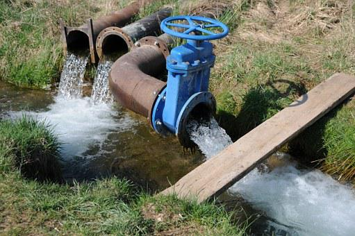 Drainage, Valve, Fluent, Green, Pipes, Pusher, Water
