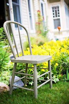 Garden, Chair, Vintage, Old-fashioned, Wooden