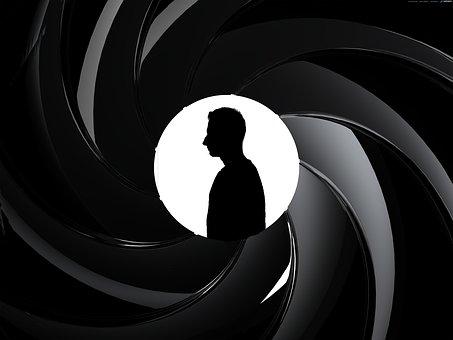 Jamesbond, Blackandwhite, Black, White, Gun, 007, Agent