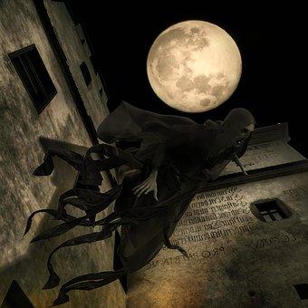 Harry Potter Dementors, Fantasy, Moon, Full Moon, Night