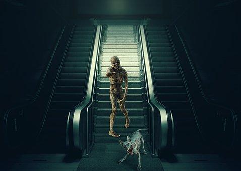Cinema, Ladder, Mechanical, Terror, Fantasy, Dead