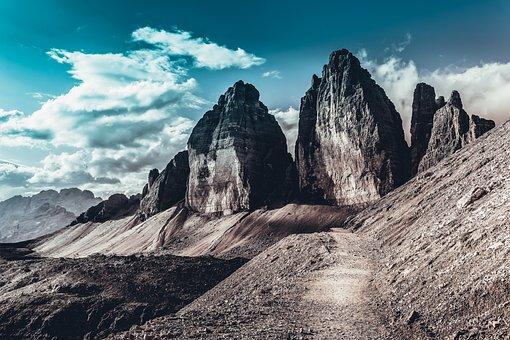 Nature, Roche, Landscape, Path, Sky