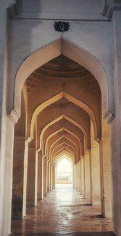 Arches, Symmetry, Mughal, Ancient, Architecture