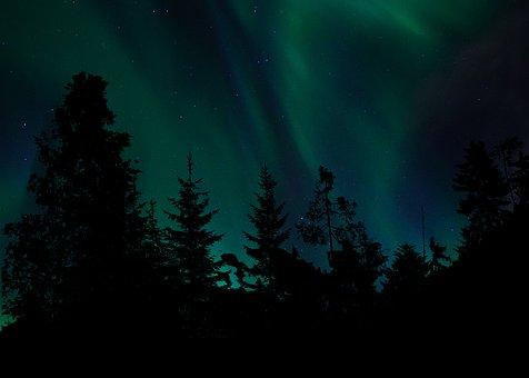 Sky, Northern Lights, Atmosphere, Green, Space