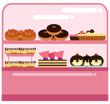 Bakery, Donuts, Pie, Pastries, Eclairs