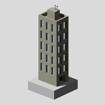 Building, City, Poly, Pixel, Urban, Architecture