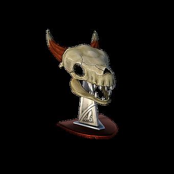 Skull, Bones, Horns, Head, Base, Metal, Dead, Nature