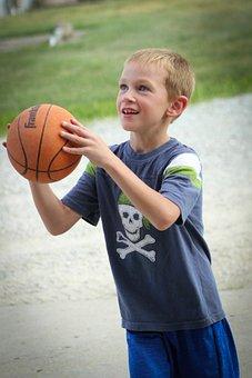 Boy, Basketball, Barnyard, Sport, Summer