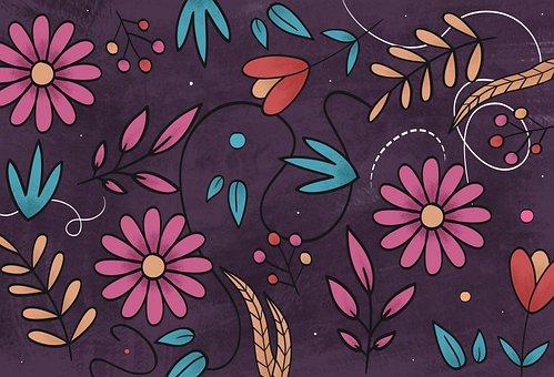 Flowers, Illustration, Flower, Spring