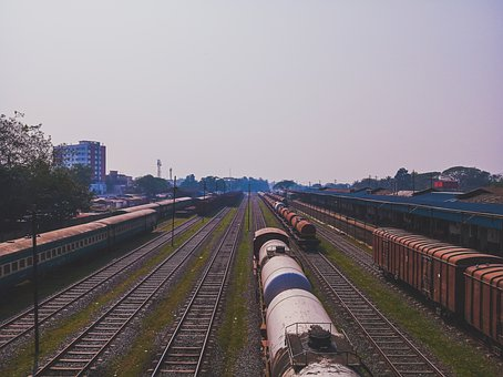 Banglades, Railway, Station, Compartment, Rail Road