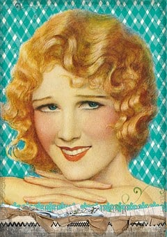 Vintage, Lady, Girl, Flapper, Bob, Hairstyle, Retro