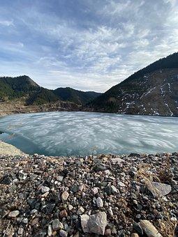 Lake, Nature, Ice, Stones, Blue Lake