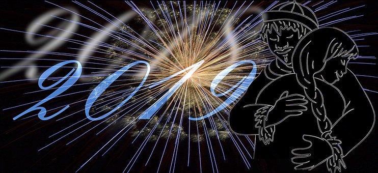 New Year's Eve, New Year, Fireworks, 2019, Celebration