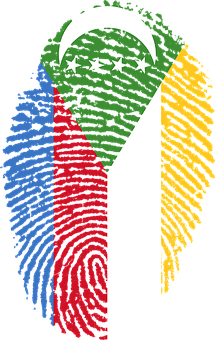Comoros, Flag, Fingerprint, Country, Pride, Identity