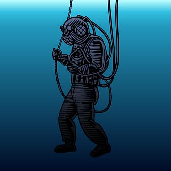 Deep Sea, Diver, Diving, Equipment, Expedition, Floor