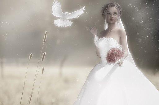 Fantasy, Reverie, Bride, Love, Romantic, Romance, Dress
