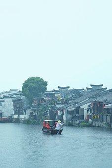 Jiangnan, Old Bridge, The Ancient Town, Bridge, River