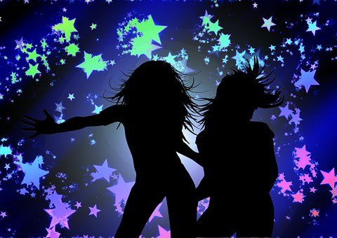 Girl, Disco, Nightclub, Star, Party, Music, Sound