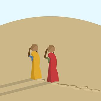 Desert, India, Poor, Women, Water, Walk