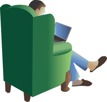 Wing Chair, Chair, Easy, Relax, Slippers